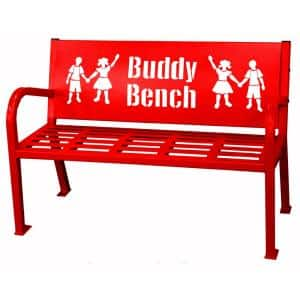 4 ft. Red Buddy Bench