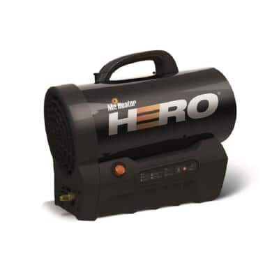 35,000 BTU Forced Air Propane Hero Heater