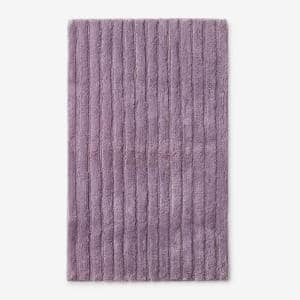 Green Earth Quick Dry Mauve 24 in. x 40 in. Solid Cotton Bath Rug