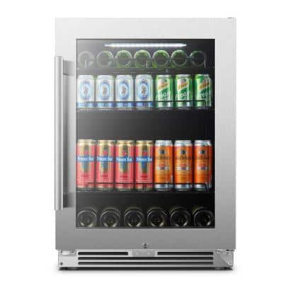 LP54BC110 Can 6 Bottle Seamless Stainless Steel Beverage Refrigerator