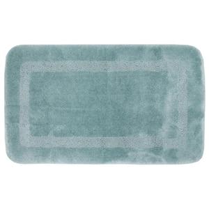 Facet Aqua 20 in. x 34 in. Nylon Machine Washable Bath Mat