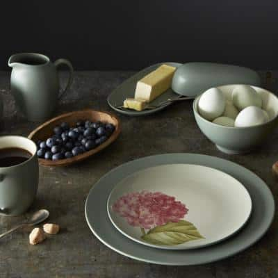 Colorwave Green Stoneware Coupe Dinner Plate 10-1/2 in.