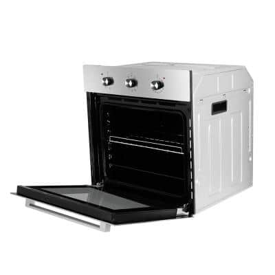 24 in. Built-in Electric Single Wall Oven with Rotisserie, 9 Cooking Modes, Mechanical Knob Control in Stainless-Steel