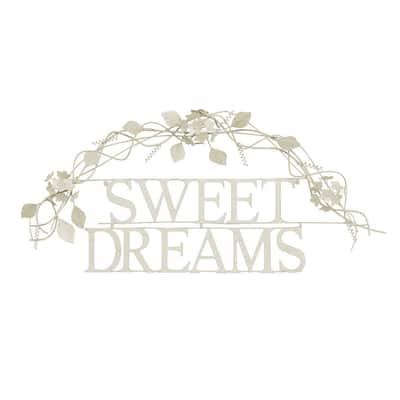 """Sweet Dreams"" Metal Cutout Sign"