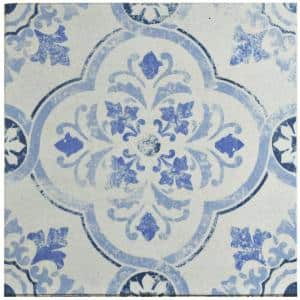 Klinker Alcazar Celosia Encaustic 12-3/4 in. x 12-3/4 in. Ceramic Floor and Wall Quarry Tile