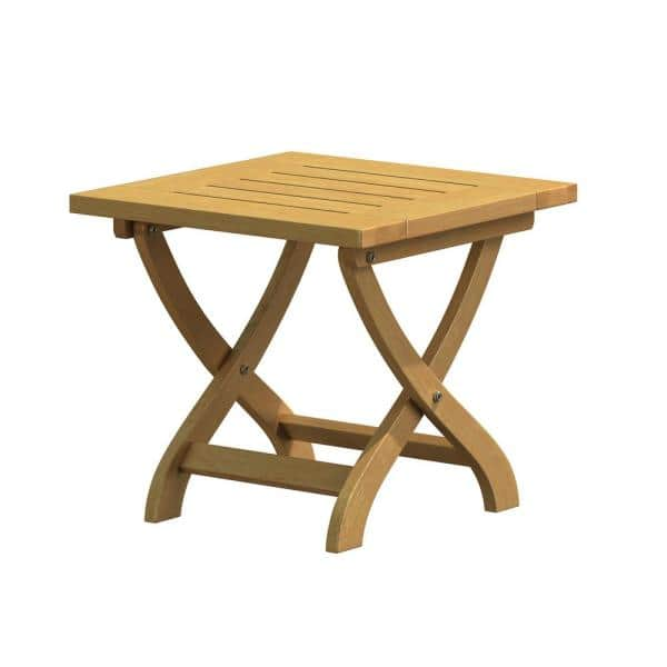 Natural White Oak Wood Outdoor Folding, Wooden Outdoor Tables