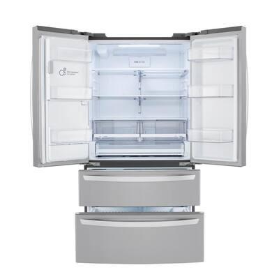 22 cu. ft. 4-Door French Door Refrigerator in PrintProof Stainless Steel, Counter Depth