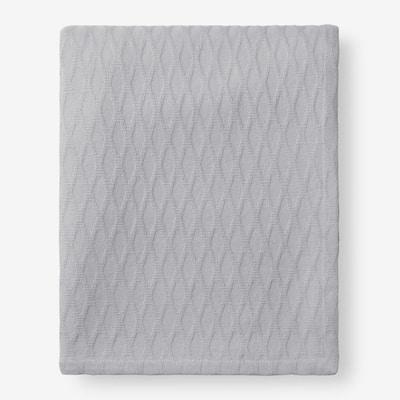 Cotton Bamboo Gray King Woven Blanket