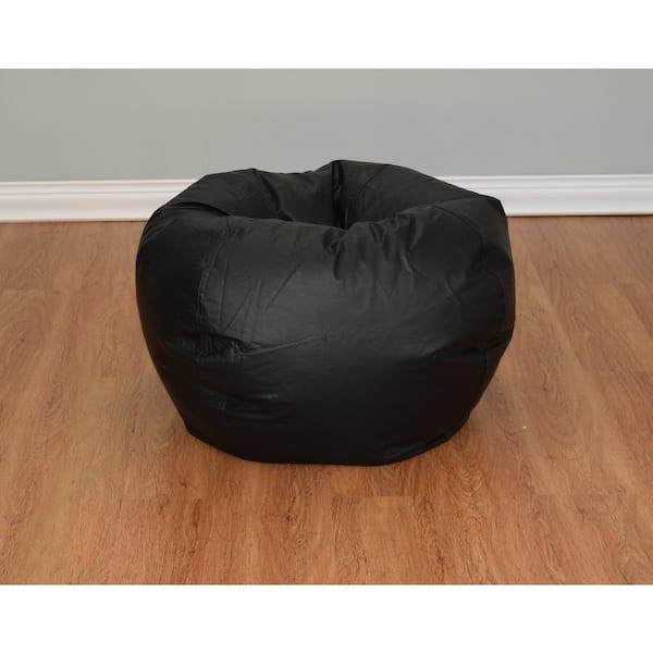 ACESSENTIALS - Black Vinyl Bean Bag