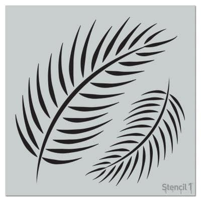 Palm Fronds Repeat Pattern Stencil