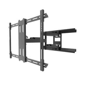 Galvanized Outdoor Full Motion TV Wall Mount with 22 in. Extension from Wall for 37 in. - 75 in. TVs