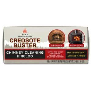 Creosote Buster Chimney Cleaning Safety Fire Log, Large, for Fireplaces and Wood Stoves (1-Pack)