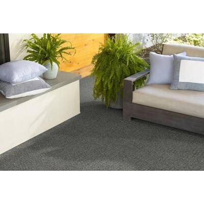 Isla Vista - Color Fieldstone Indoor/Outdoor Berber Gray Carpet