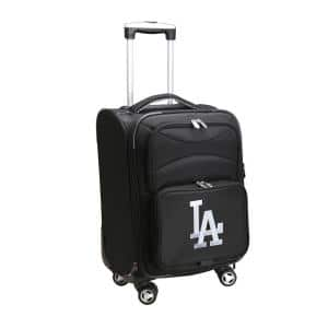 MLB Los Angeles Dodgers 21 in. Black Carry-On Spinner Softside Suitcase