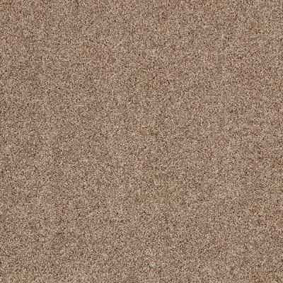 Gemini II-Color Tudor Brown Textured 12 ft. Carpet