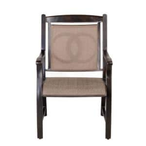 Brown Aluminum Patio Dining Chairs (Set of 4 )
