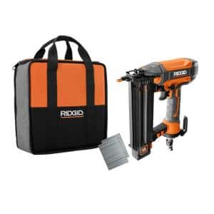 18-Gauge 2-1/8 in. Brad Nailer with CLEAN DRIVE Technology, Tool Bag, and Sample Nails