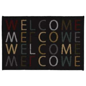 Doormat Collection Rectangular Multicolored Welcome Home 20 in. x 30 in. Door Mat