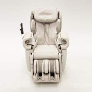 Kagra White Modern Synthetic Leather Premium Super Stretch 4D Massage Chair