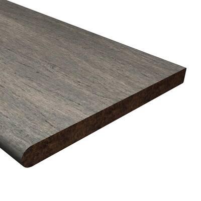Boardwalk 1-1/16 in. T x 11-13/16 in. W x 48 in. L Solid Bamboo Stair Tread Molding