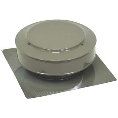 50 sq. in. NFA Aluminum Round Back Static Roof Vent in Weatherwood
