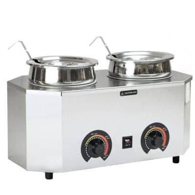 Pro-Style 6 L Dual Ladle Warmer with 2 Crocks