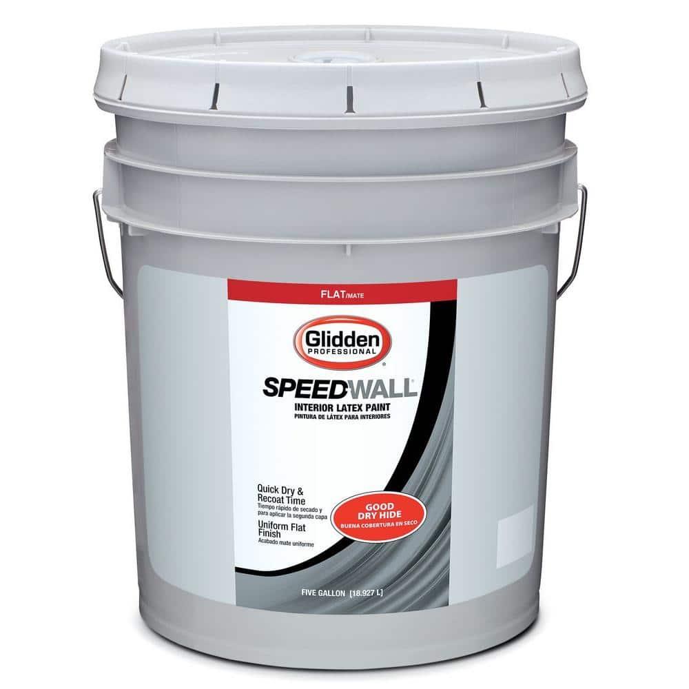 Glidden Professional 5 Gal Flat Interior Paint Gps 2020 05 The Home Depot