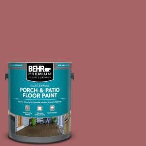 Behr Premium 1 Gal Ppu1 06 Rose Marquee Gloss Enamel Interior Exterior Porch And Patio Floor Paint 673001 The Home Depot