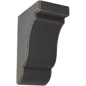 3-1/2 in. x 7-1/2 in. x 5 in. Black Bedford Wood Vintage Decor Bracket