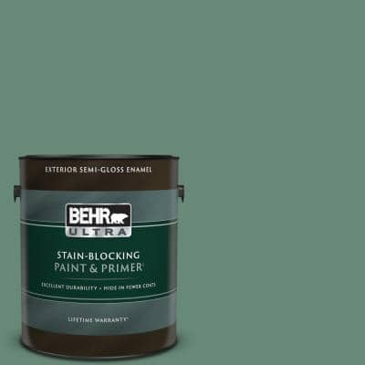 1 gal. #PPF-35 Green Adirondack Semi-Gloss Enamel Exterior Paint & Primer