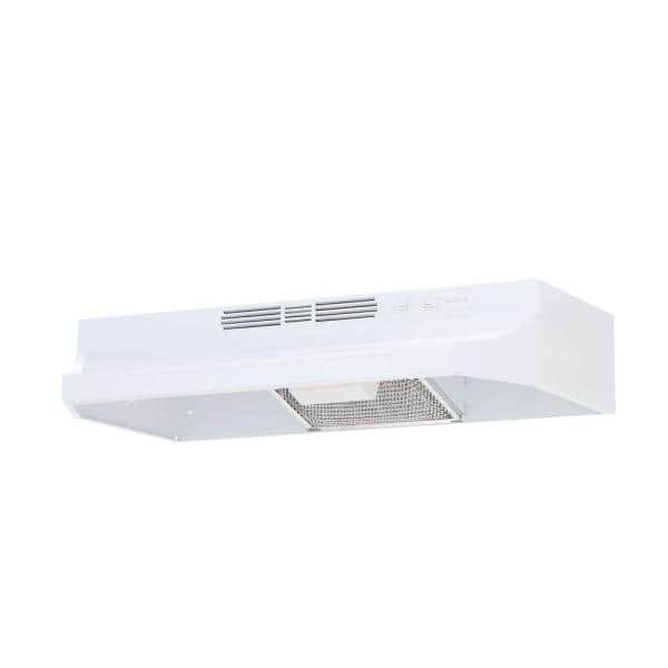 Broan Nutone Rl6200 Series 30 In Ductless Under Cabinet Range Hood With Light In White Rl6230wh The Home Depot