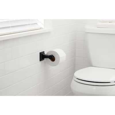 Lorent Matte Black Toilet Paper Holder