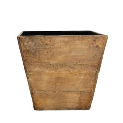 16 in. x 13.5 in. H Barnwood Square Composite Planter