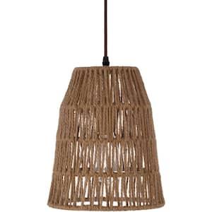 Sattund 11 in. 1-Light Natural Indoor Pendant Lamp