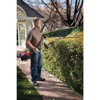 Universal 22 in. Articulating Hedge Trimmer String Trimmer Attachment
