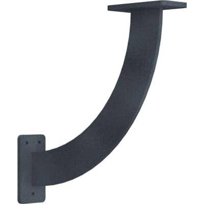 2 in. x 11 in. x 11 in. Steel Hammered Gray Bradford Bracket