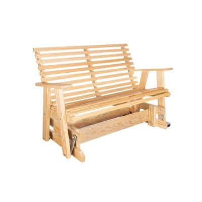 Capers Solid Pine Outdoor Glider