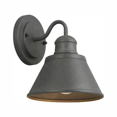 1-Light Zinc Outdoor Wall Barn Light Sconce Lantern
