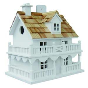 Novelty Cottage Birdhouse (White)