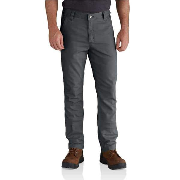 Carhartt Men S 34 In X 32 In Shadow Cotton Polyester Rugged Flex Rigby Straight Fit Pant 102821 029 The Home Depot