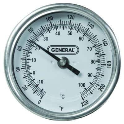 36 Inch Lomg-Stem Indoor/Outdoor Agricultural Soil Compost Thermometer with Analog Dial and NPT fitting