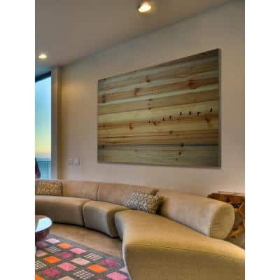 """24 in. H x 36 in. W """"In Formation"""" by Parvez Taj Printed Natural Pine Wood Wall Art"""