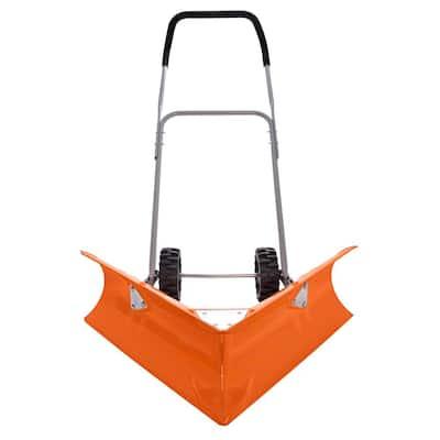 Rolling Dual Angle Snow Pusher/Shovel