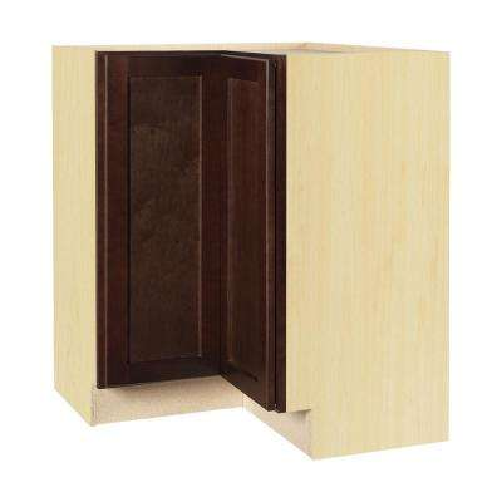 Shaker Assembled 28.5x34.5x16.5 in. Lazy Susan Corner Base Kitchen Cabinet in Java