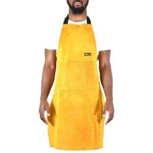 24 in. x 36 in. Heavy-Duty Genuine Cowhide Leather Work Apron