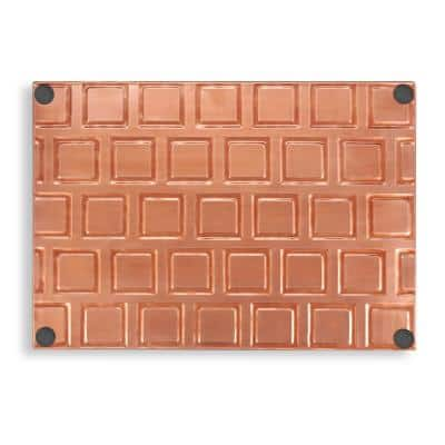 20 in. L x 14 in. W Squares Multi-Purpose Boot Tray 4103VB for Boots, Shoes, Plants and More, Copper Finish