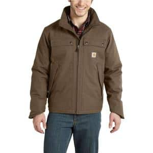 Men's Tall Large Canyon Brown Cotton/Polyester Quick Duck Jefferson Traditional Jacket