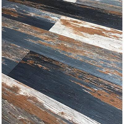 COLORS Floor and Wall DIY Old Black Smoke Aged 6 in. 36 in. Multi-Tonal Luxury Vinyl Plank (30 sq. ft. / case)