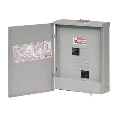 BR 100 Amp 10 Space 20 Circuit Outdoor Main Breaker Loadcenter with Flush Cover