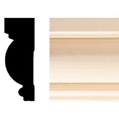 .88 in. x 2.71 in. x 84 in. Hardwood Casing/Chair Rail Moulding